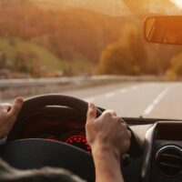 travel by car, road trip driving background
